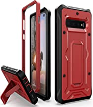 ArmadilloTek Vanguard Designed for Samsung Galaxy S10 Case (2019 Release) Military Grade Full-Body Rugged with Kickstand Without Built-in Screen Protector (Red)