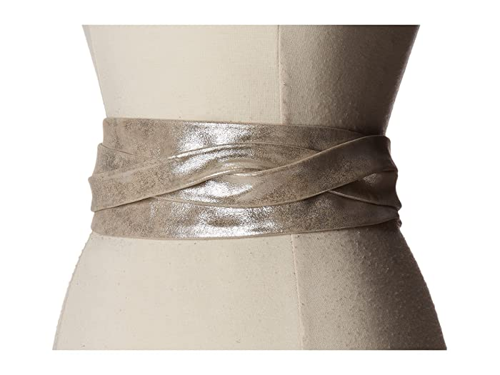 ADA Collection Obi Classic Wrap Belt (Silver) Women