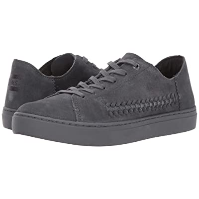 TOMS Lenox Sneaker (Forged Iron Grey Monochrome Deconstructed Suede/Woven Panel) Women