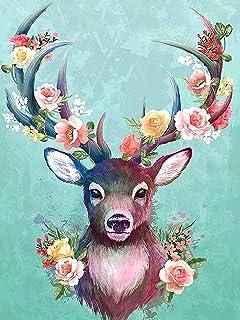 Jantabo Diamond Schilderij Kits Hert, 5D DIY Dier Volwassenen Beginners Diamond Painting Set Volledige Boor Cross Stitch S...