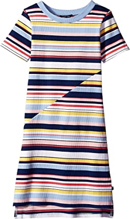 Multi Stripe Dress (Big Kids)