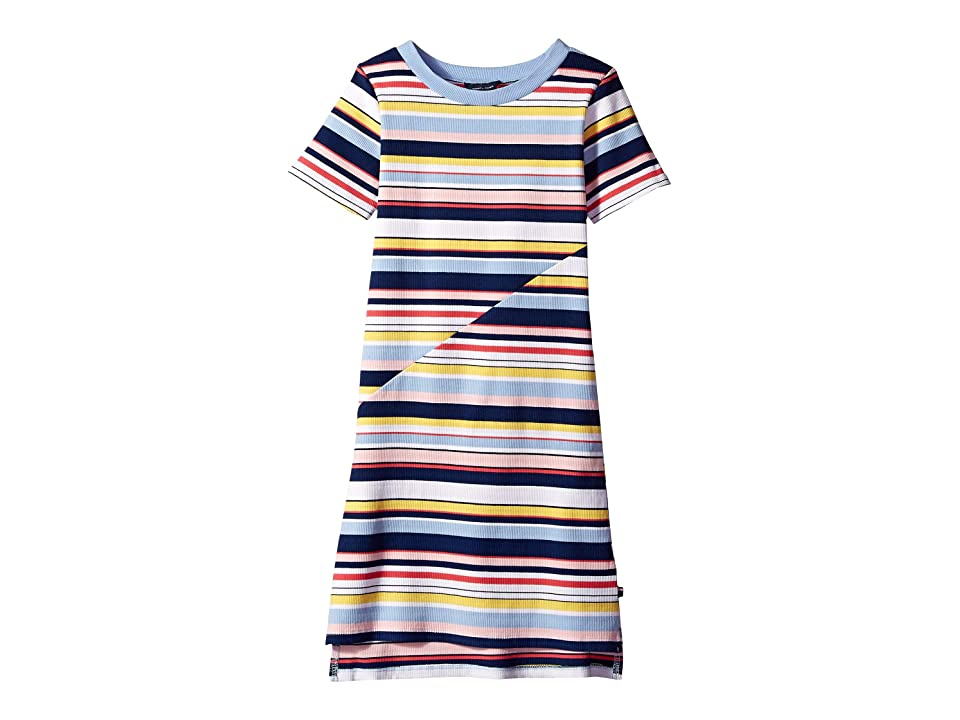 Tommy Hilfiger Kids Multi Stripe Dress (Big Kids) (Flag Blue) Girl