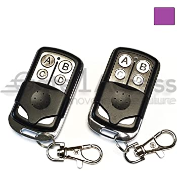 371lm 2 Pack Compatible Garage Door Remote Control With Purple Learn Button Liftmaster Chamberlain Craftsman 370lm 371lm 373lm 139 53753 139 53753 139 18191 Amazon Com