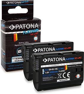 PATONA 2X Platinum akumulator EN-EL15C, 2250mAh kompatybilny z Nikon Z5, Z6, Z6II, Z7, Z7II, D7500 D7000, w niezawodnej i ...