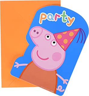 amscan Postcard Invitations   Peppa Pig Collection   Party Accessory   48 Ct.