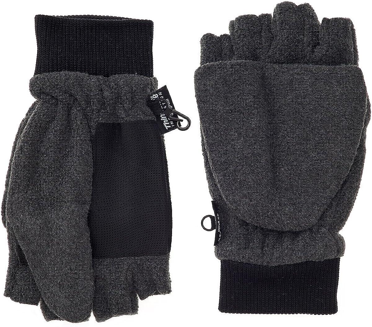 Men's Micro-Fleece Convertible Mittens