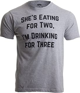 Drinking for Three | Funny New Dad Father Pregnancy Announcement Joke T-Shirt Sport Grey
