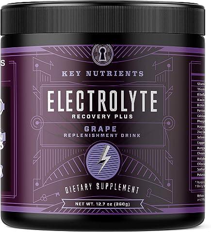 Electrolyte Powder, Grape Hydration Supplement: 90 Servings, Carb, Calorie & Sugar Free, Delicious Keto Replenishment Drink M