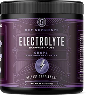 Electrolyte Powder, Grape Hydration Supplement: 90 Servings, Carb, Calorie & Sugar Free, Delicious Keto Replenishment Drin...
