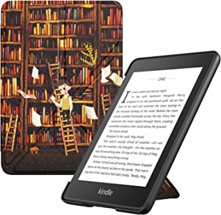 TiMOVO Case Compatible for Kindle Paperwhite E-Reader (10th Generation, 2018 Release) - Standing Origami Slim Shell Cover with Auto Wake/Sleep Fit Amazon Kindle Paperwhite, Bookshelf