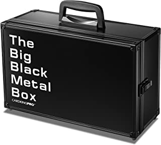 The Big Black Metal Box (BBB Edition) | Case is Compatible with Magic The Gathering, MTG, All Standard Card Games (Game No...