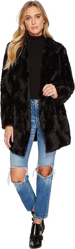 Jack by BB Dakota - Haddie Faux Fur Drape Front Coat