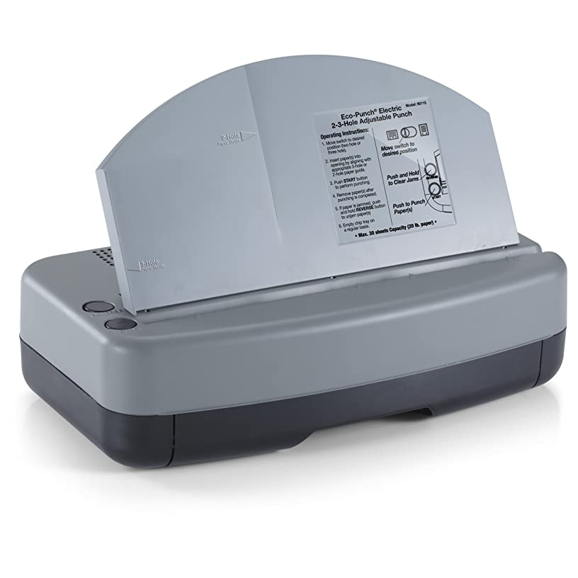 OfficemateOIC  Eco-Punch Electric Punch 2-3 Hole Adjustable, 30-Sheet Capacity, Recycled (90115)