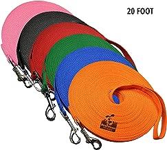 (6.1m, Green) - Dog Leash Obedience Recall Training Agility Lead, Leash - Green, 6.1m Long