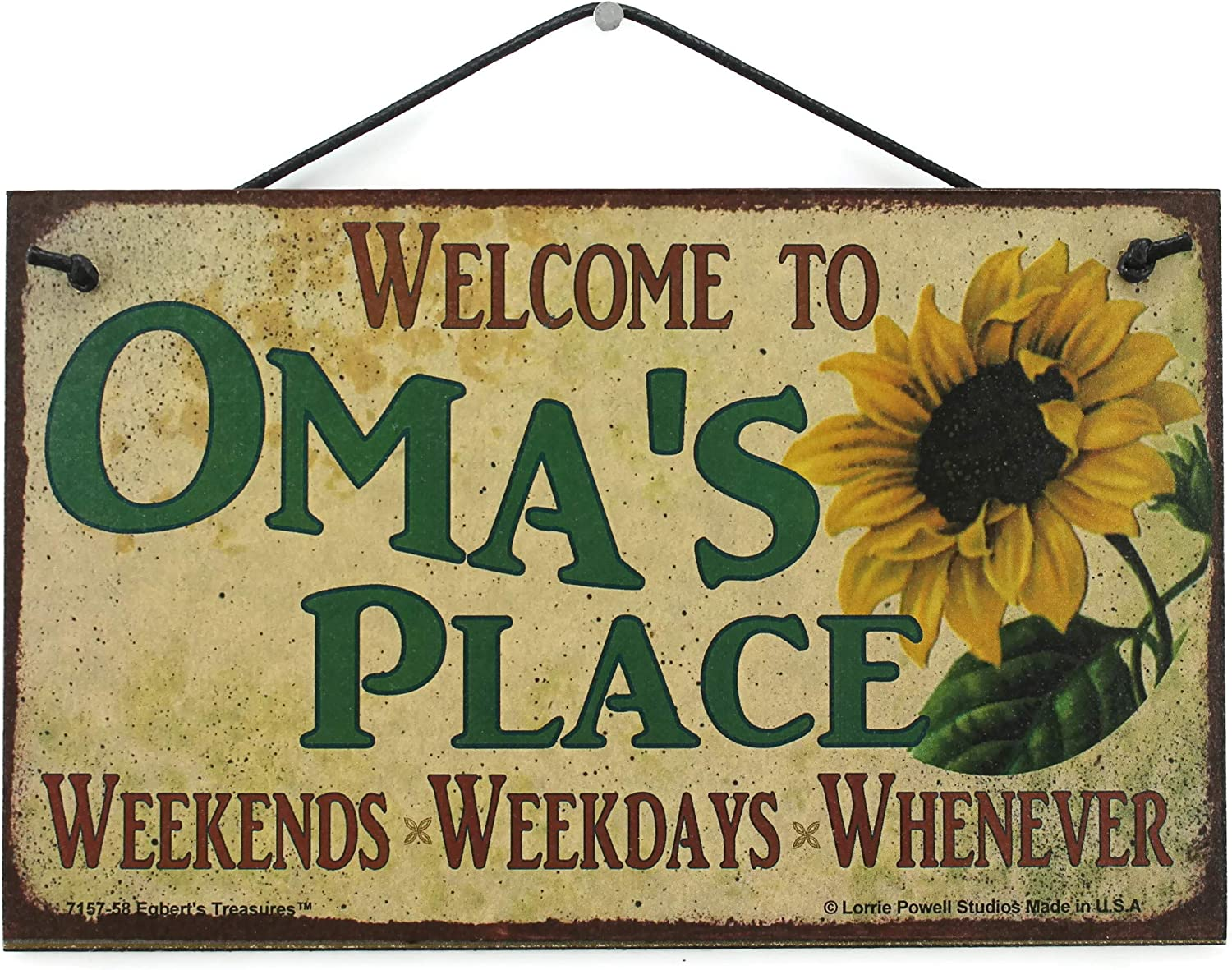 5x8 Vintage Style Sign Recommended with OMA'S Max 62% OFF Saying Sunflower