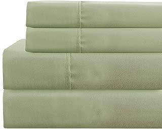 Amrapur Overseas Deep-Pocket Ultra-Soft Solid 4-Piece Sheet Set, Full, Sage