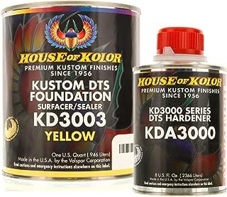 House of Kolor QUART KIT YELLOW Color KD3000 DTS Surfacer / Sealer w/ Hardener