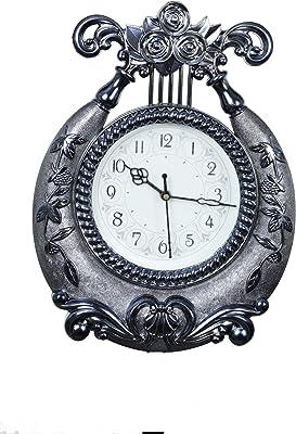 Mitrah Circular Analog Wall Clock (Blue, with Glass)
