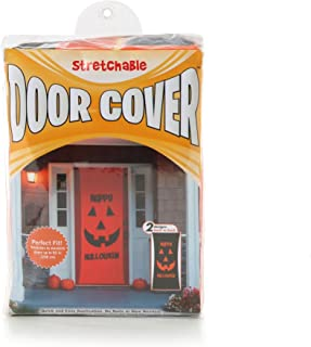Kittrich Corporation Double Sided Decorative Halloween Theme Stretchable Door Cover