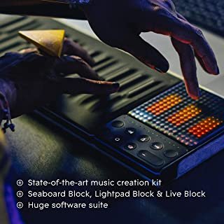 ROLI   Songmaker Studio Edition   Complete kit for Next-Level Music Creation — Lightpad Block Controllers, Case &, ROL-002419 (Software Included)