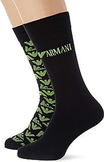 Emporio Armani Men's Logo Lover 2 Pack Short Socks