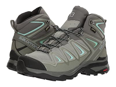 Salomon X Ultra 3 Mid GTX(r) (Shadow/Castor Gray/Beach Glass) Women