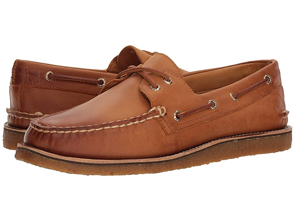 Sperry Gold A/O 2-Eye Crepe (Tan) Men