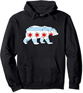 City of Chicago Flag Bear Lover Classic Pullover Hoodie