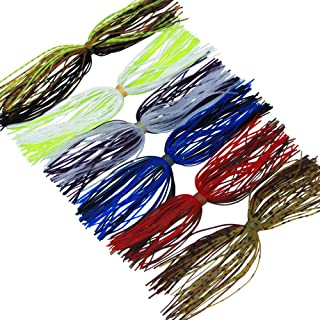 JSHANMEI Silicone Jig Skirts Fishing Bait Accessories Fishing Jig DIY Spinnerbaits Buzzbaits Spoon Blade Squid Skirt Replacement Fly Tying Material