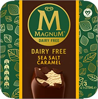 Magnum Dairy-Free Sea Salt Caramel Multipack Ice Cream Stick 3 x 90ml - Frozen, 270 ml