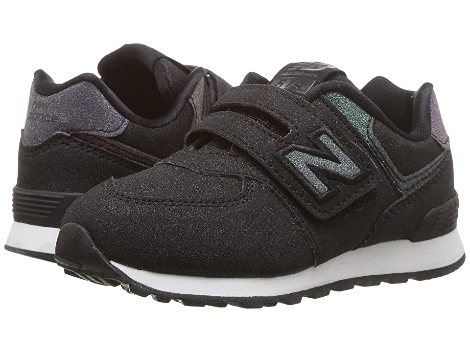 New Balance Kids IV574v1 (Infant/Toddler) (Black/Iridescent) Girls Shoes