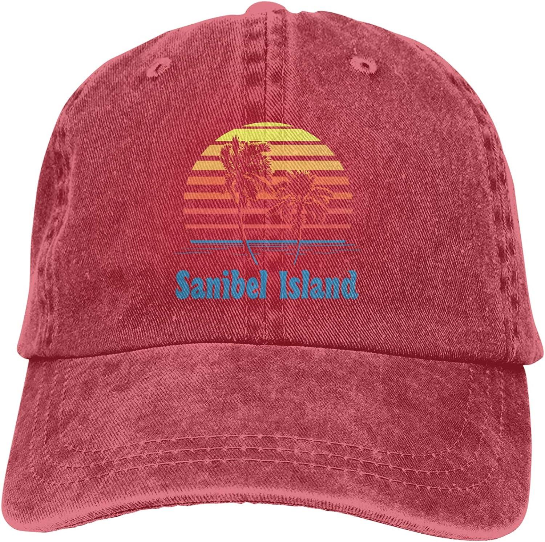 Denim Cap Sanibel Island Baseball Dad Cap Classic Adjustable Sports for Men Women Hat
