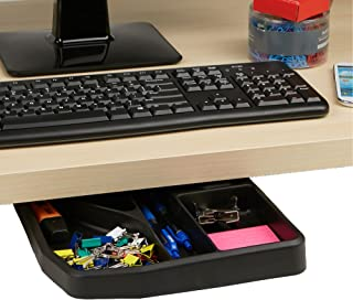 Mind Reader Desk Sliding Compartment Organizer, Black Accessories Holder