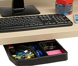 Mind Reader Desk Sliding Compartment Organizer, Black Accessories Holder