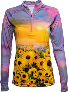 Sponsored Ad - Bold Babe Women's Sun Protective Long Sleeve Zip Neck - SPF Clothing Perfect for Enjoying The Outdoors - Su...