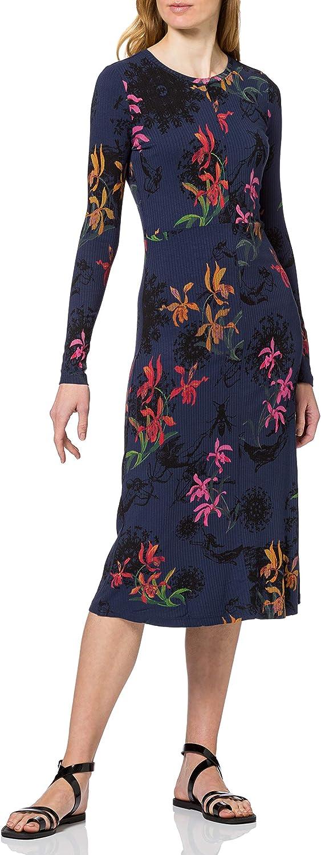 Desigual Women's 年中無休 Woman Knit Sleeve Dress Long 価格