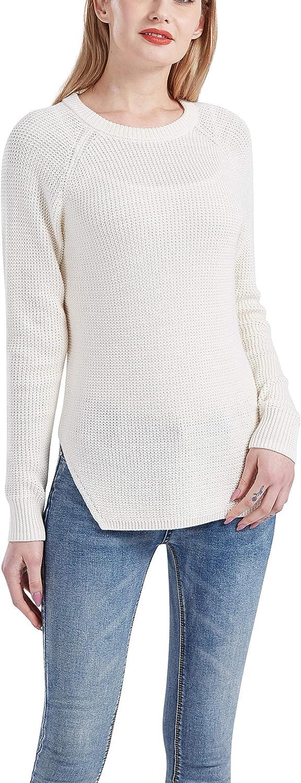 Gilboa Women's 100% Cotton Crewneck Pullover Chunky Sweater