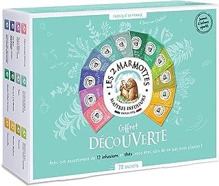 """Les 2 Marmottes - Coffret """"Découverte"""" 72 Sachets - dégustation 11 Infusions 1 Thé - Idéal En Cadeau - Bien-Être Et Relaxa..."""