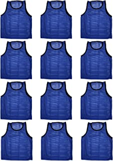 Set of 12 ~ Scrimmage Vests Vests Pinnies Soccer ~ Youth Blue
