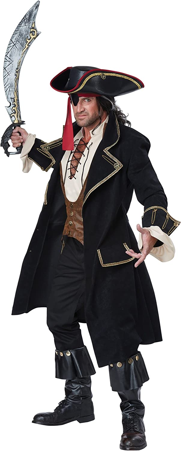 OFFicial Adult Deluxe Pirate Costume Captain Max 76% OFF