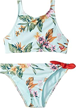 fec929e5ec Wan Blue Heritage Floral. 30. Roxy Kids. The Little Mermaid Heritage Floral Crop  Top Swim Set (Big ...