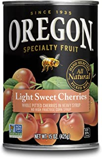Oregon Fruit Pitted Light Sweet Cherries 15 oz, (Pack of 8)