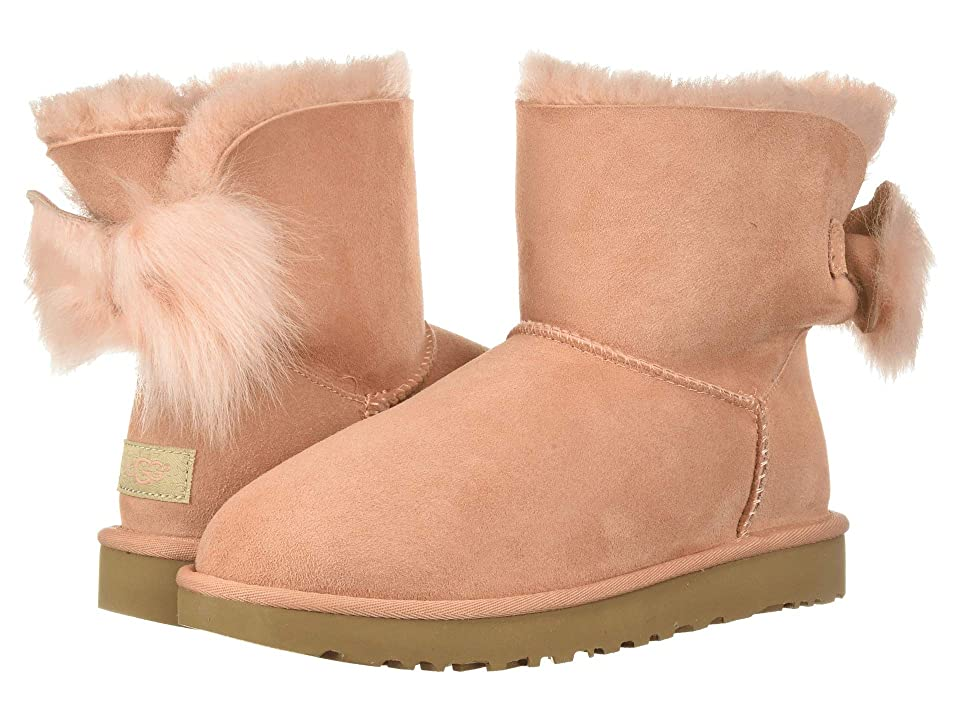 UGG Fluff Bow Mini (Suntan) Women