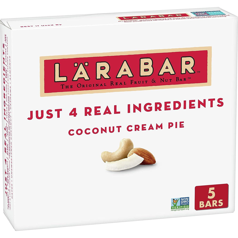 Larabar Coconut Cream Pie, Gluten Free Vegan Fruit & Nut Bar, 1.7 oz Bars, 5 Ct