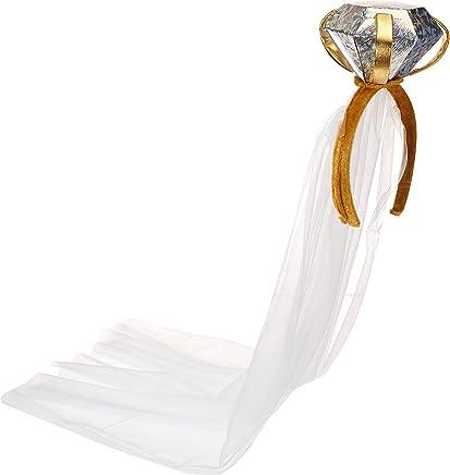 Beistle 60560 Diamond Ring Headband with Veil