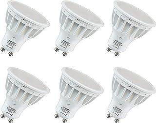 Aiwode 5W Bombilla GU10 LED,Blanco Neutro 4000K,500LM Equivalente a 50W RA85 120°Ángulo de haz,Paquete de 6.