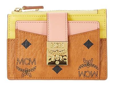 MCM Patricia Visetos Leather Block Card Case Mini (Shrimp) Handbags