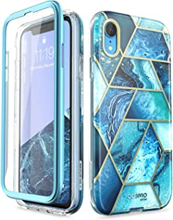 "i-Blason Cosmo Full-Body Bumper Case for iPhone XR 2018 Release, Ocean Blue, 6.1"""