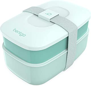 Bentgo Classic - All-in-One Stackable Bento Lunch Box Container - Modern Bento-Style Design Includes 2 Stackable Container...
