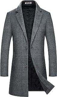 BOJIN コート メンズ 冬 ウール ロング ビジネス ステンカラー 無地 防寒 防風 大きいサイズ